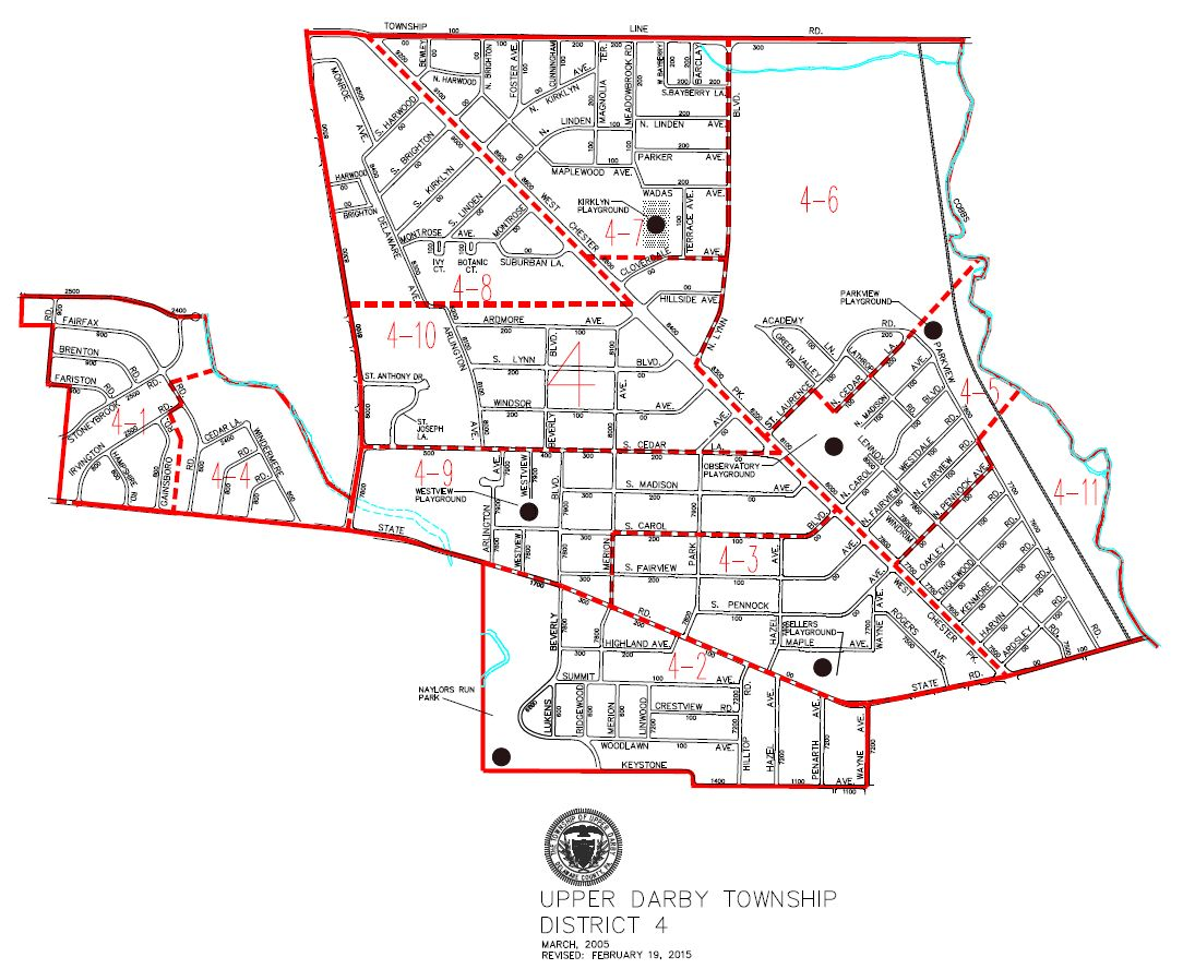 map of Upper Darby Township District 4
