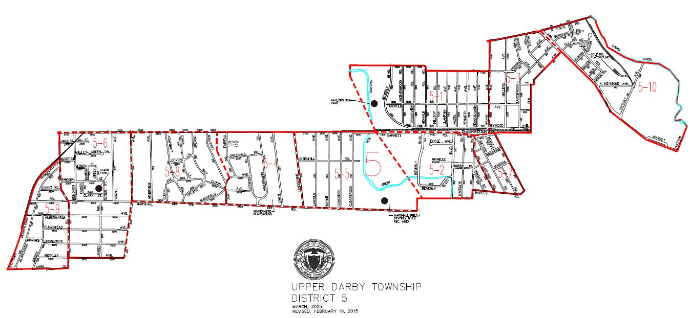 map of Upper Darby Township District 5