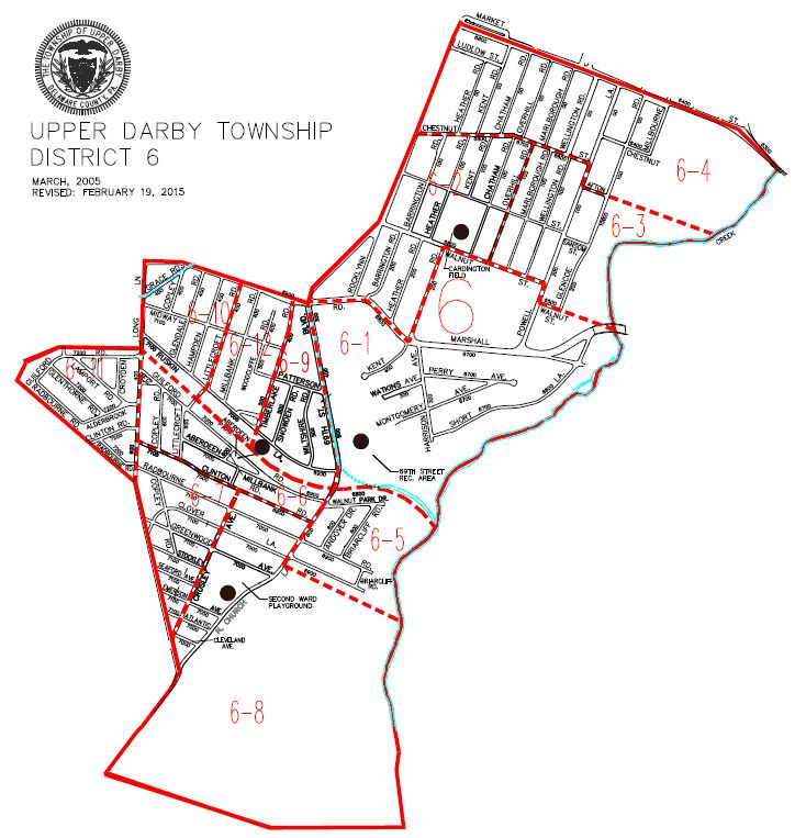 map of Upper Darby Township District 6